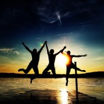 mood-mood-three-of-them-the-joy-the-beach-jump-lake-sunset-people-night-sun-summer